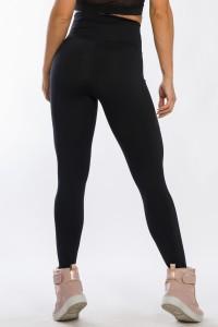 Calça Legging com Bolso Lateral (Preto)   Ref: K2424-A