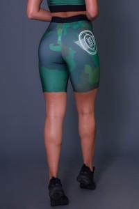 Bermuda Com Cós de Elástico Green Camo   Ref: K2606
