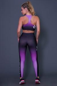 Calça Legging Purple Drizzle   Printed: K2642-B