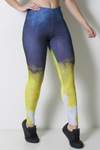 Calça Legging Sublimada Color Smoke | Ref: CAL370-041