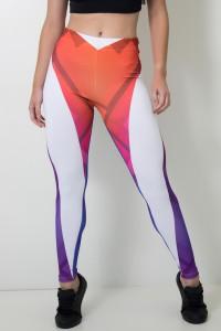 Calça Feminina Legging Sublimada Color Rhombs | Ref: CAL409-041