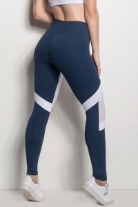 Calça 2 Cores Com Detalhe Em Tela (Azul Marinho / Branco)   Ref: CAL426-003/002/000