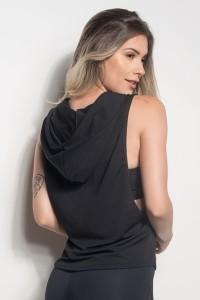 Camiseta Regata Mullet Dry Fit Com Capuz (Preto) | Ref: CMT107-001/000/000