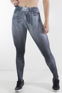 Legging Jeans Preta Sublimada | Ref: KS-F1715-003