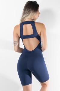 Macaquinho Fitness Nathália (Azul Marinho) | Ref: KS-F83-001