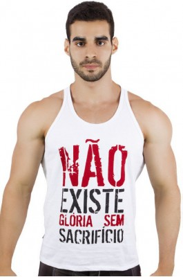 Camiseta Regata (Não Existe Glória Sem Sacrifício) | Ref: KS-F519