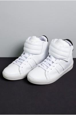 Sneakers Cano Médio com Velcro (Branco) | Ref: KS-T58-001