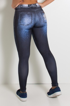 Legging Sublimada PRO (Jeans Degradê) | Ref: NTSP34-001