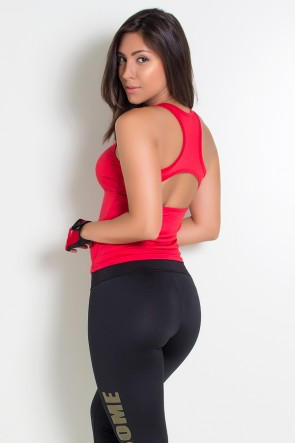 Camiseta Fitness Júlia Suplex (Vermelho) | Ref: KS-F39-002