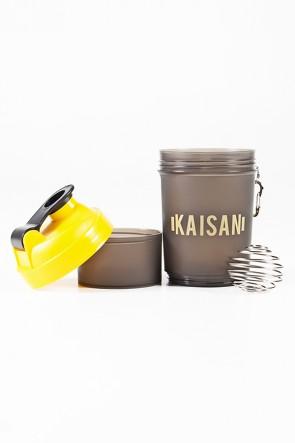 Coqueteleira com Mola de 500 ML com 1 Compartimento (Fumê / Amarelo) | Ref: KS-CK03-001