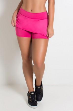 Short Saia Carla Liso (Rosa Pink) | Ref: KS-F174-006