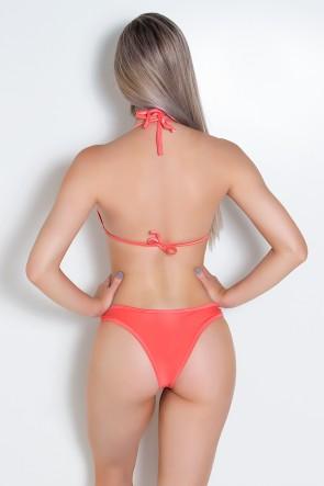 Biquini Liso com Tule (Coral) | Ref: DVBQ07-003