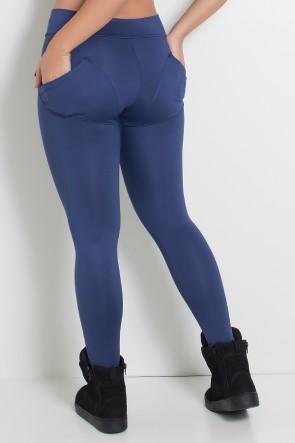 Calça Levanta Bumbum com Bolso (Azul Marinho) | Ref: KS-F488-003