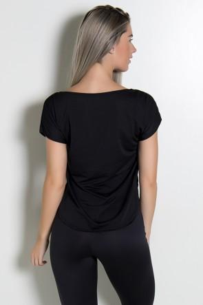 Camiseta Fitness Jennifer Contem Whey Protein (Preto) | Ref: KS-F160-001