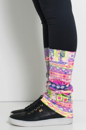 Polaina Fitness Estampada (Mosaico Fluorescente) | Ref: KS-F165-003