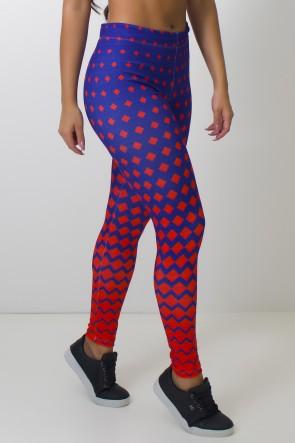 Calça Legging Estampa Digital Redblue | Ref: CAL373-041
