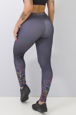 Calça Feminina Legging Sublimada Color Lines | Ref: CAL376-041