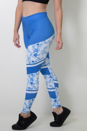 Calça Feminina Legging Sublimada Band Bloom | Ref: CAL379