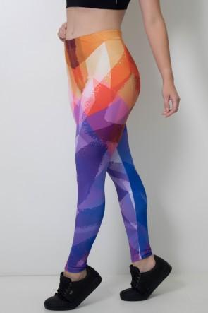 Calça Feminina Legging Estampa Digital Scollor | Ref: CAL381-041