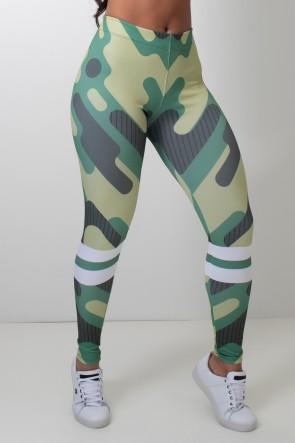 Calça Feminina Legging Sublimada Camouflage | Ref: CAL418-041
