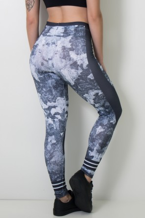 Calça Feminina Legging Sublimada Dark Camo   Ref: CAL420-041
