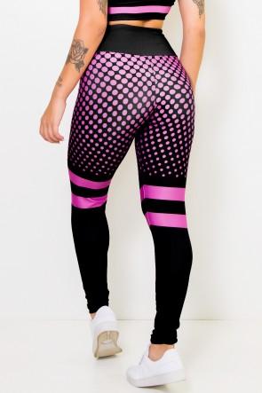Calça Legging Sublimada Neon Pink | Ref: CA444-041-000