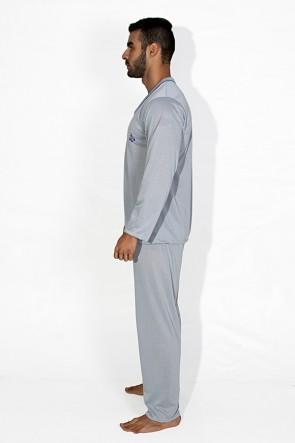 Pijama Mas. Longo 080 (Cinza) | Ref: CEZ- PA080-003