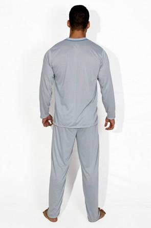 Pijama Mas. Longo 080 (Cinza)   Ref: CEZ- PA080-003