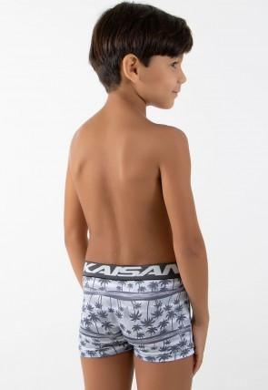 Kit com 3 Cuecas Boxer Infantil - Microlight 182  | Ref: CEZ-CF182-003