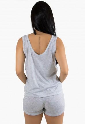Babydoll feminino 116 (Cinza Claro) Ref: CEZ-PA116-001