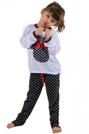 Pijama longo de Malha Infantil 012 (Preto) | Ref: CEZ-PA012-002