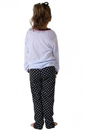 Pijama longo de Malha Infantil 012 (Preto)   Ref: CEZ-PA012-002