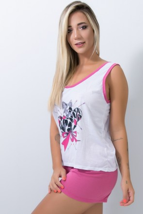 Babydoll Feminino 052 (Pink) | Ref: CEZ-PA052-008
