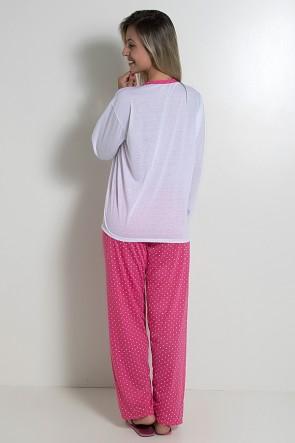 Pijama feminino longo 246 (Pink) CEZ-PA246-003