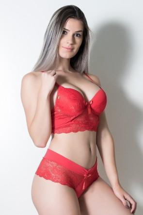 Conjunto Ana Clara 503 (Vermelho) | Ref: CEZ-TT503-005