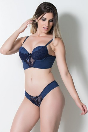 Conjunto Marcela 504 (Azul Marinho) | Ref: CEZ-TT504-003