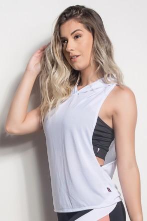 Camiseta Regata Mullet Dry Fit Com Capuz (Branco) | Ref: CMT107-002/000/000