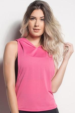 CMT107-006/000/000_Camiseta_Regata_Mullet_Dry_Fit_Com_Capuz_Rosa_Pink__Ref:_CMT107-006000000