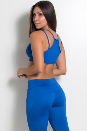 Top Nadador Embutido com Tiras no Peito (Azul Royal) | Ref: F1025-006