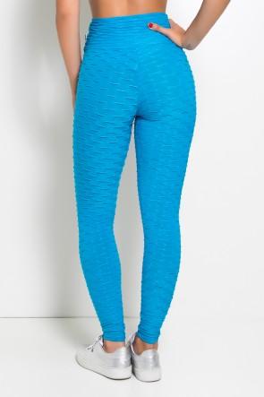 Calça Legging Tecido Bolha (Azul Celeste) | Ref: F103-011