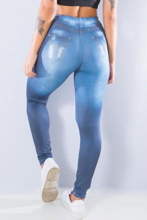 Legging Jeans Escura Sublimada | Ref:F1033-001