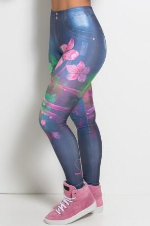 Legging Jeans Flores Sublimada | Ref: F1068-001