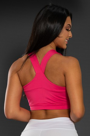 Cropped  com Recorte (Rosa Pink) | Ref: F1153-001