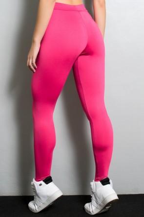 Calça Legging com Fecho na Frente (Rosa Pink) | Ref: F170-002