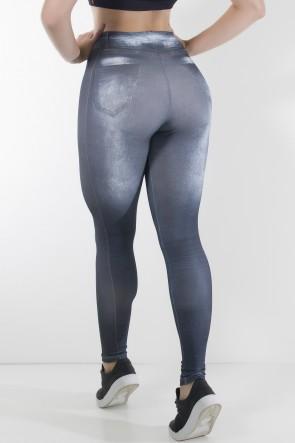 Legging Jeans Preta Sublimada | Ref: F1715-003