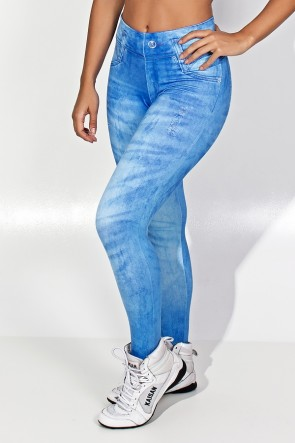 Legging Blue Jeans Estampa Digital | Ref: F1843-001
