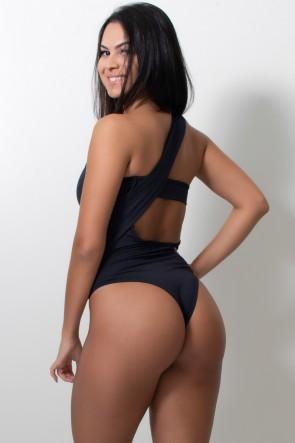 Body Liso com Argola (Preto) | Ref: F2063-001