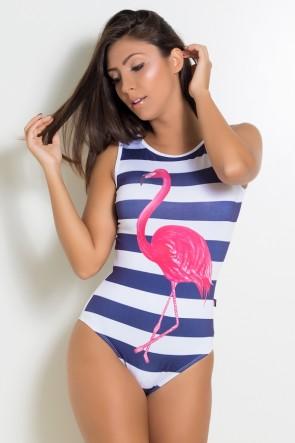 F2177-001_Body_Liso_com_Frente_Sublimada_Listrado_com_Flamingo__Ref:F2177-001