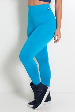 Legging Cós Alto Azul Celeste | Ref: F23-004