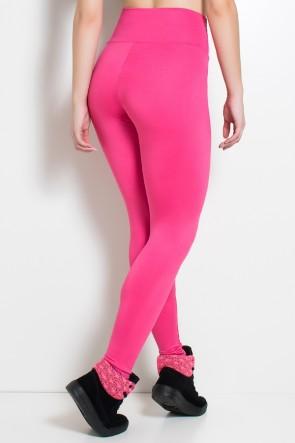 Legging Cós Alto Rosa Pink   Ref: F23-005